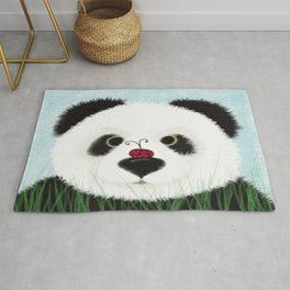 The Panda Bear And His Visitor Rug