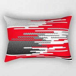 Red White Black Halftone Rectangular Pillow