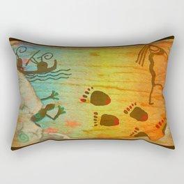 Cave Dwelling Native American Rectangular Pillow