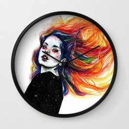 Phoenix girl Wall Clock