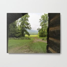 Looking Out from the Cabin Metal Print