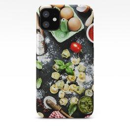 Homemade raw Italian tortellini iPhone Case