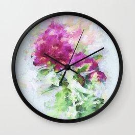 Impasto Rhododendron Wall Clock