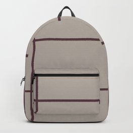 Deep Purple Taupe Gray Criss Cross Stripe Pattern 2021 Color of the Year Epoch and Fondue Backpack