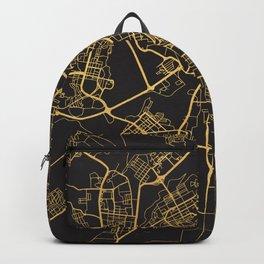 YEREVAN ARMENIA GOLD ON BLACK CITY MAP Backpack