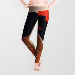 Red Sun Leggings