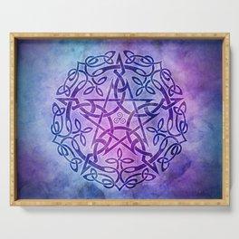 Mystic Purple Celtic Pentacle Pentagram Serving Tray