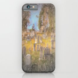 Art Of Sleepy Hollow Cemetery iPhone Case