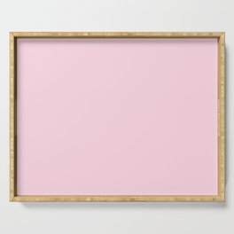 From Crayon Box – Piggy Pink - Pastel Pink Solid Color Serving Tray