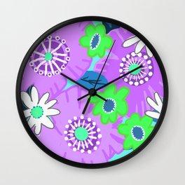 Big Purple Wall Clock