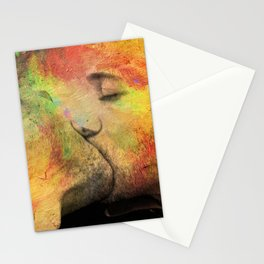 gay kiss Stationery Cards