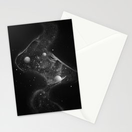 Starry kisses B&W. Stationery Cards