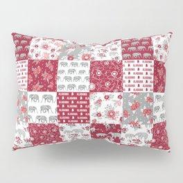 Alabama bama crimson tide quilt pattern florals football varsity alumni Kissenbezug
