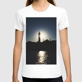 Sunset in Istanbul, view of Airkhapi Lighthouse and the Hagia Sophia Grand Mosque T-shirt