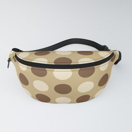 Mid Century Modern Polka Dots 930 Beige and Brown Fanny Pack