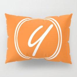 Monogram - Letter Y on Pumpkin Orange Background Pillow Sham