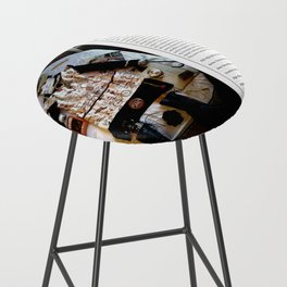 My Life Is Like A Collage / Art Stories Bar Stool