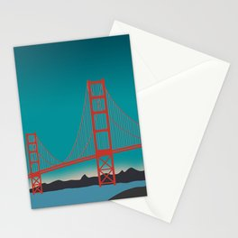 Golden Gate Bridge, San Francisco, California Landscape Stationery Cards