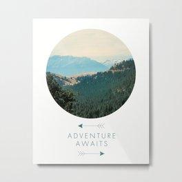 Adventure Awaits, Adventure Awaits Art Print, Inspirational Quote, Minimalist Decor, Fun, Typography Art Print, Positivity Art Print, Motivational Quote, Motivational Art, Positivity Art Print, Nature, Minimalist Metal Print