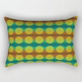 Taurus Flower of Life Astrology Pattern Rectangular Pillow