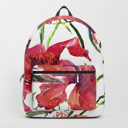 Tropical Background. watercolor tropical leaves and plants. Hand painted jungle greenery background Backpack