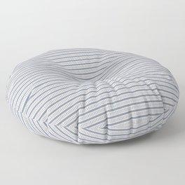 Seamless french farmhouse woven linen stripe texture.  Floor Pillow