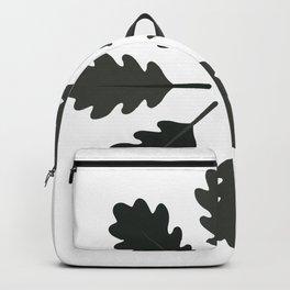 Radial Oak Leaves (Black) Backpack