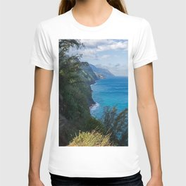Kalalau Trail on Kauai Island of Hawaii T-shirt
