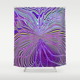 Re-Created Flower 8 by Robert S. Lee Shower Curtain
