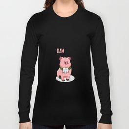 Alexander Hamilton Pig Piggy Ham BBQ Musical Long Sleeve T-shirt