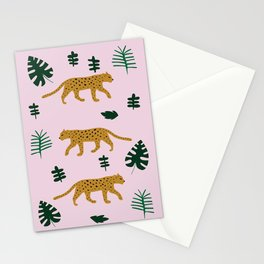 Leopard Jungle Print Stationery Cards