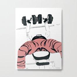 Dumbbell Bench Press Metal Print