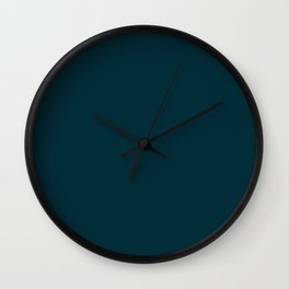 Simply Solid - Peacock Blue Wall Clock
