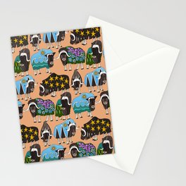 Alaskan musk ox peach Stationery Cards