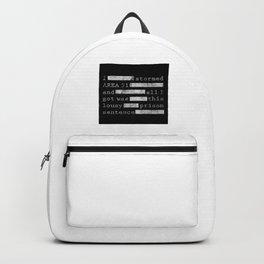 Area 51 Black Vault Document Backpack