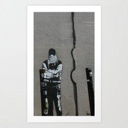 SF Street Art, Blek Le Rat Art Print