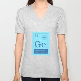 Periodic Elements - 32 Germanium (Ge) Unisex V-Neck