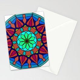 Hand-drawn colored mandala Stationery Cards