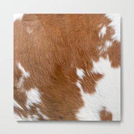 Cowhide, Cow Skin Pattern, Farmhouse Decor Metal Print