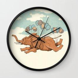 Flying elephant Wall Clock