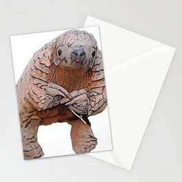 Pangolin Body Mammal You Eat You Die Challenge Stationery Cards
