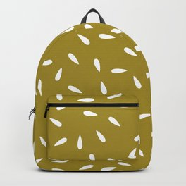 Water Drops on Olive Green Background Backpack