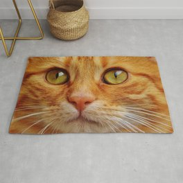 Cat - Red - Cute - Mackerel - Tiger - Sweet - Cuddly - Animal. Little sweet moments. Rug