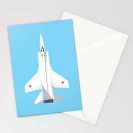 MiG-31 Foxhound Interceptor Jet Aircraft - Sky Stationery Cards