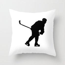 Eis Hockey Dark Spieler Ausrüstung Throw Pillow