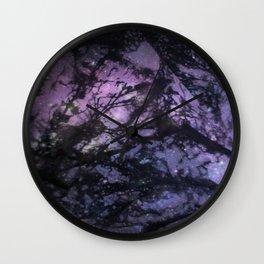 Night Sky (Monoprint) Wall Clock