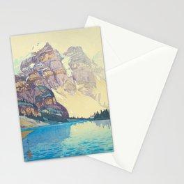 Moraine Lake (Moren) Hiroshi Yoshida Japanese Woodblock Print Stationery Cards