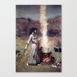 THE MAGIC CIRCLE - JOHN WILLIAM WATERHOUSE Canvas Print
