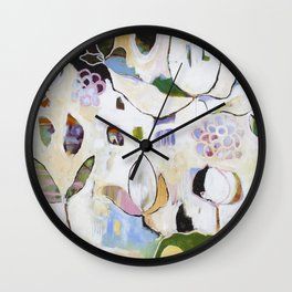 """Letting Go"" Original Painting by Flora Bowley Wall Clock"