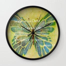 2 Corinthians 5:17 Wall Clock
